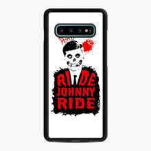 Load image into Gallery viewer, Misfits Ride Johnny Ride Samsung Galaxy S10 Plus Case, Black Rubber Case | Webluence.com