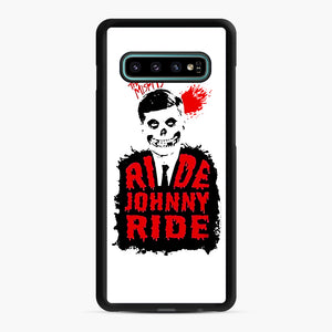 Misfits Ride Johnny Ride Samsung Galaxy S10 Plus Case, Black Rubber Case | Webluence.com