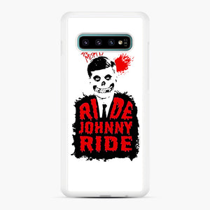 Misfits Ride Johnny Ride Samsung Galaxy S10 Plus Case, White Rubber Case | Webluence.com