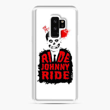 Load image into Gallery viewer, Misfits Ride Johnny Ride Samsung Galaxy S9 Plus Case, White Plastic Case | Webluence.com