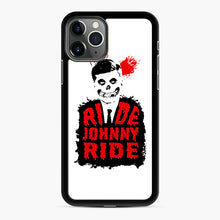 Load image into Gallery viewer, Misfits Ride Johnny Ride iPhone 11 Pro Case, Black Rubber Case | Webluence.com
