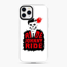 Load image into Gallery viewer, Misfits Ride Johnny Ride iPhone 11 Pro Case, White Plastic Case | Webluence.com