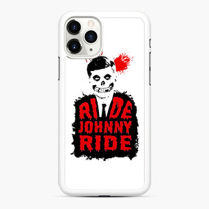 Misfits Ride Johnny Ride iPhone 11 Pro Max Case, White Rubber Case | Webluence.com