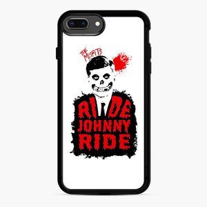 Misfits Ride Johnny Ride iPhone 7,8 Plus Case, Black Rubber Case | Webluence.com