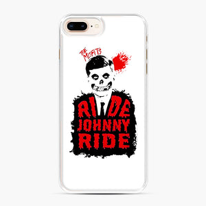 Misfits Ride Johnny Ride iPhone 7,8 Plus Case, White Plastic Case | Webluence.com