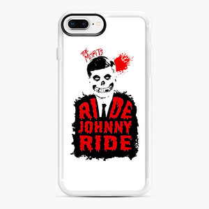 Misfits Ride Johnny Ride iPhone 7,8 Plus Case, White Rubber Case | Webluence.com