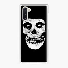 Load image into Gallery viewer, Misfits Skull & Logo Samsung Galaxy Note 10 Case, White Plastic Case | Webluence.com