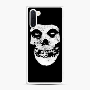 Misfits Skull & Logo Samsung Galaxy Note 10 Case, White Rubber Case | Webluence.com