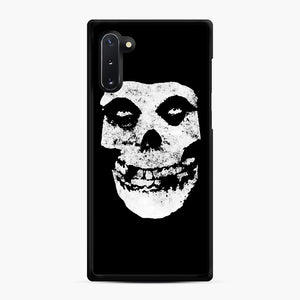 Misfits Skull & Logo Samsung Galaxy Note 10 Case, Black Rubber Case | Webluence.com
