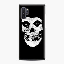 Load image into Gallery viewer, Misfits Skull & Logo Samsung Galaxy Note 10 Plus Case, Black Plastic Case | Webluence.com