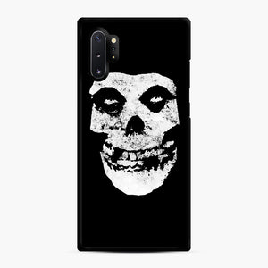 Misfits Skull & Logo Samsung Galaxy Note 10 Plus Case, Black Rubber Case | Webluence.com