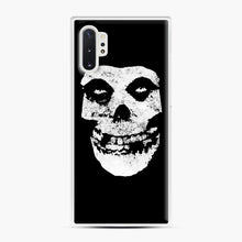 Load image into Gallery viewer, Misfits Skull & Logo Samsung Galaxy Note 10 Plus Case, White Plastic Case | Webluence.com