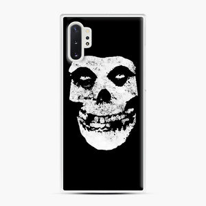 Misfits Skull & Logo Samsung Galaxy Note 10 Plus Case, White Plastic Case | Webluence.com