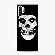 Load image into Gallery viewer, Misfits Skull & Logo Samsung Galaxy Note 10 Plus Case, White Rubber Case | Webluence.com