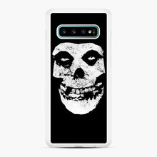 Load image into Gallery viewer, Misfits Skull & Logo Samsung Galaxy S10 Plus Case, White Rubber Case | Webluence.com