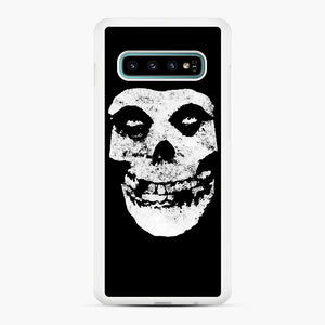 Misfits Skull & Logo Samsung Galaxy S10 Plus Case, White Rubber Case | Webluence.com