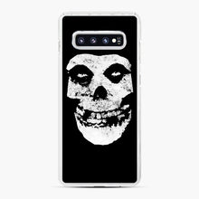 Load image into Gallery viewer, Misfits Skull & Logo Samsung Galaxy S10 Plus Case, White Plastic Case | Webluence.com