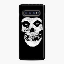 Load image into Gallery viewer, Misfits Skull & Logo Samsung Galaxy S10 Plus Case, Black Plastic Case | Webluence.com