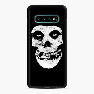 Misfits Skull & Logo Samsung Galaxy S10 Plus Case, Black Rubber Case | Webluence.com