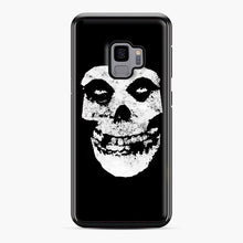 Load image into Gallery viewer, Misfits Skull & Logo Samsung Galaxy S9 Case, Black Plastic Case | Webluence.com