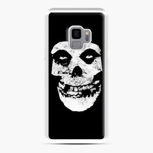 Load image into Gallery viewer, Misfits Skull & Logo Samsung Galaxy S9 Case, White Plastic Case | Webluence.com