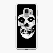 Load image into Gallery viewer, Misfits Skull & Logo Samsung Galaxy S9 Case, White Rubber Case | Webluence.com