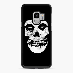 Misfits Skull & Logo Samsung Galaxy S9 Case, Black Rubber Case | Webluence.com