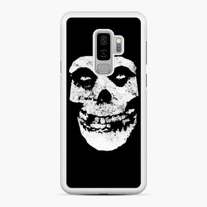 Misfits Skull & Logo Samsung Galaxy S9 Plus Case, White Rubber Case | Webluence.com