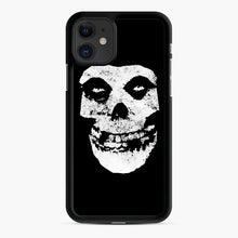 Load image into Gallery viewer, Misfits Skull & Logo iPhone 11 Case, Black Rubber Case | Webluence.com