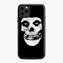 Load image into Gallery viewer, Misfits Skull & Logo iPhone 11 Pro Max Case, Black Plastic Case | Webluence.com