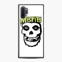 Load image into Gallery viewer, Misfits 'Logo Skull' Long Sleeved Baseball Samsung Galaxy Note 10 Plus Case, Black Plastic Case | Webluence.com