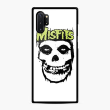 Load image into Gallery viewer, Misfits 'Logo Skull' Long Sleeved Baseball Samsung Galaxy Note 10 Plus Case, Black Rubber Case | Webluence.com