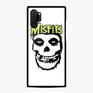 Misfits 'Logo Skull' Long Sleeved Baseball Samsung Galaxy Note 10 Plus Case, Black Rubber Case | Webluence.com