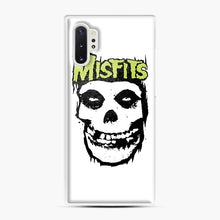 Load image into Gallery viewer, Misfits 'Logo Skull' Long Sleeved Baseball Samsung Galaxy Note 10 Plus Case, White Plastic Case | Webluence.com