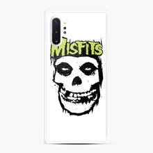 Load image into Gallery viewer, Misfits 'Logo Skull' Long Sleeved Baseball Samsung Galaxy Note 10 Plus Case, White Rubber Case | Webluence.com