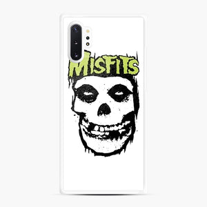 Misfits 'Logo Skull' Long Sleeved Baseball Samsung Galaxy Note 10 Plus Case, White Rubber Case | Webluence.com