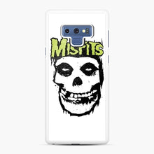 Load image into Gallery viewer, Misfits 'Logo Skull' Long Sleeved Baseball Samsung Galaxy Note 9 Case, White Rubber Case | Webluence.com