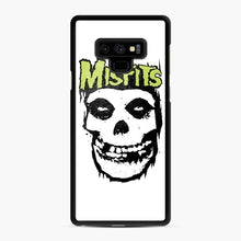 Load image into Gallery viewer, Misfits 'Logo Skull' Long Sleeved Baseball Samsung Galaxy Note 9 Case, Black Rubber Case | Webluence.com