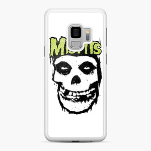 Misfits 'Logo Skull' Long Sleeved Baseball Samsung Galaxy S9 Case, White Rubber Case | Webluence.com