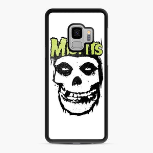 Misfits 'Logo Skull' Long Sleeved Baseball Samsung Galaxy S9 Case, Black Rubber Case | Webluence.com