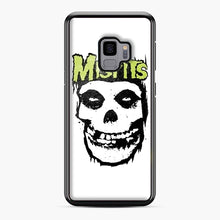 Load image into Gallery viewer, Misfits 'Logo Skull' Long Sleeved Baseball Samsung Galaxy S9 Case, Black Plastic Case | Webluence.com