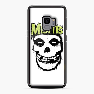 Misfits 'Logo Skull' Long Sleeved Baseball Samsung Galaxy S9 Case, Black Plastic Case | Webluence.com