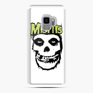 Misfits 'Logo Skull' Long Sleeved Baseball Samsung Galaxy S9 Case, White Plastic Case | Webluence.com