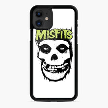 Load image into Gallery viewer, Misfits 'Logo Skull' Long Sleeved Baseball iPhone 11 Case, Black Rubber Case | Webluence.com