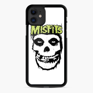 Misfits 'Logo Skull' Long Sleeved Baseball iPhone 11 Case, Black Rubber Case | Webluence.com