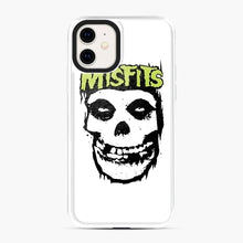 Load image into Gallery viewer, Misfits 'Logo Skull' Long Sleeved Baseball iPhone 11 Case, White Plastic Case | Webluence.com