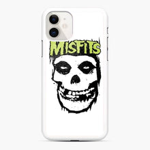 Load image into Gallery viewer, Misfits 'Logo Skull' Long Sleeved Baseball iPhone 11 Case, White Rubber Case | Webluence.com