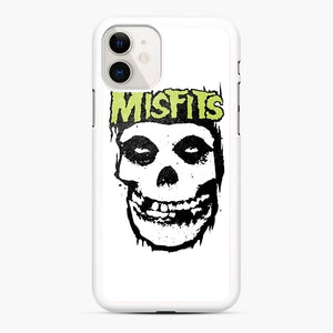 Misfits 'Logo Skull' Long Sleeved Baseball iPhone 11 Case, White Rubber Case | Webluence.com