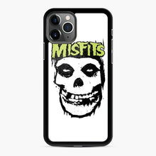 Load image into Gallery viewer, Misfits 'Logo Skull' Long Sleeved Baseball iPhone 11 Pro Case, Black Rubber Case | Webluence.com