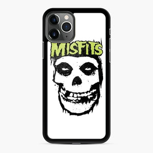 Misfits 'Logo Skull' Long Sleeved Baseball iPhone 11 Pro Case, Black Rubber Case | Webluence.com